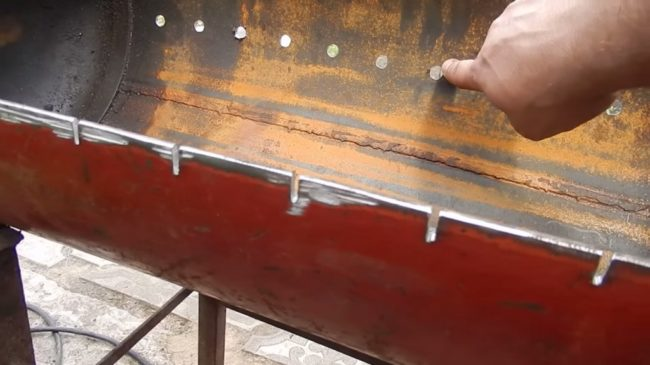Крышка для мангала из газового баллона